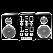 Image of '130 BPM is the new 120 BPM' Boombox shirt