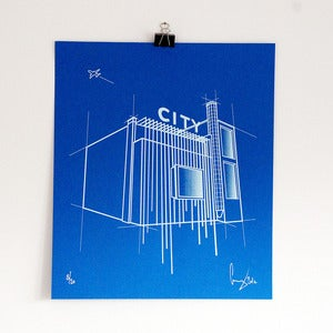 Image of 'City blue' screen print