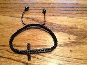 "Image of ""Life"" Black on Black Cross Bracelet"