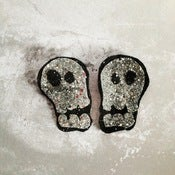 Image of Glitter Skull Clip