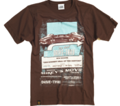 Image of 2012 Drive Through Cinema T-shirt - Brown Version