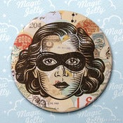 Image of Black Mask Pocket Mirror