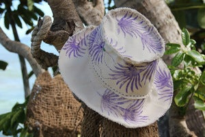 Image of beach bum hat - purple palm