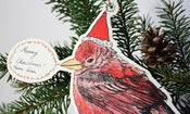 Image of Xmas Postbird Card - Red Bird