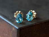 Image of London Blue Topaz Stud Earrings