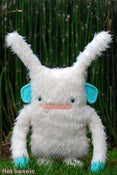 "Image of Flat YetiBun the Yeti Bunny Plush (18"" tall) Handmade"