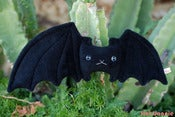"Image of Lefty the Flat Bat Plush (16"" wide x 6"" tall) Handmade"