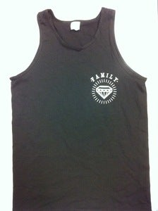 "Image of ""L & T Cult"" Tank Tops. White/Black"