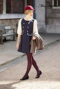 Image of Peggy Dress (navy)