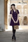 Image of Joan Dress (aubergine)