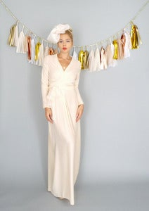 Image of Vivienne: Bohemian Wedding Wrap Gown with Sleeves