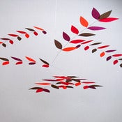 Image of Flowering Sumac Leaf Mobile by Moon-Lily Silk Mobiles