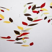Image of Winter Harvest Leaf Mobile by Moon-Lily Silk Mobiles