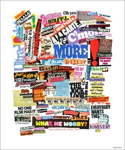 Image of Typographicollage Poster