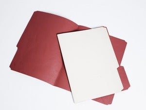 Image of manila folder - red