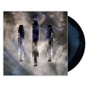 "Image of VYGR/At Our Heels/Griever 3 Way Split 12"" (Blue + Black Swirl)"