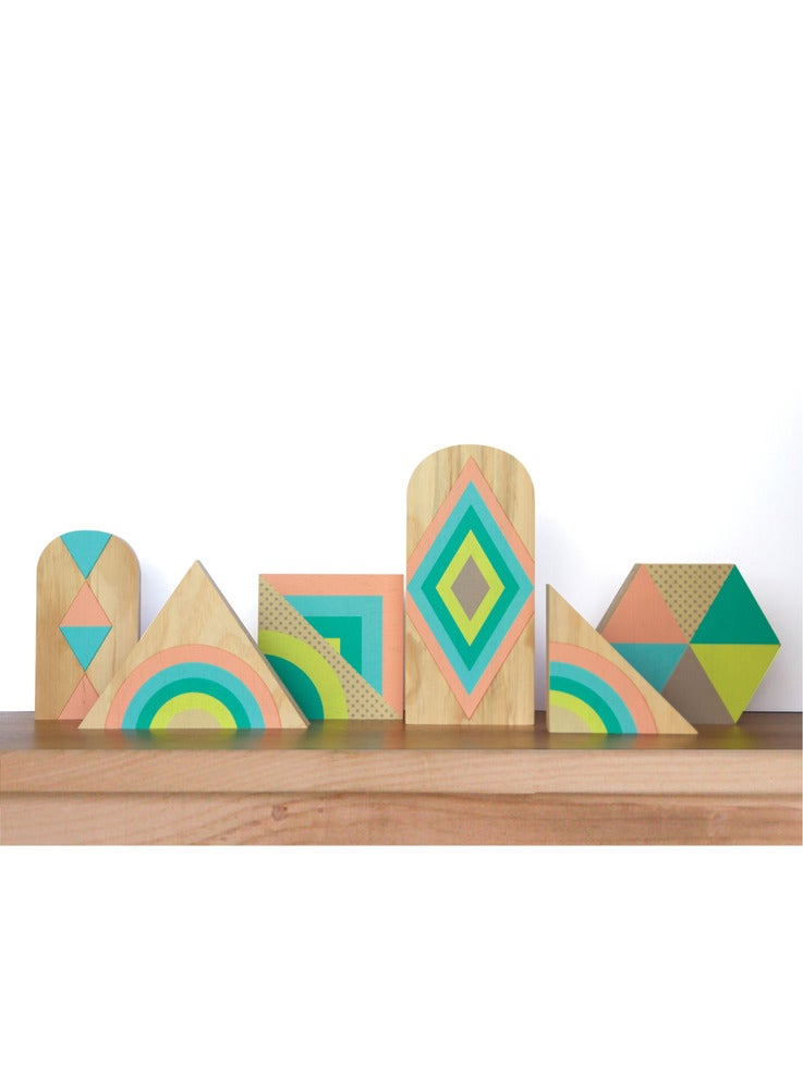 Image of SET TWO: GEO PASTEL WOODYS