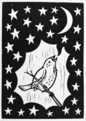 Image of 'He Sung The Moon And The Stars' - Lino Print