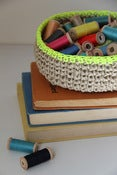 Image of Jute Bowl - Neon Lime Trim