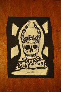 Image of Black tribal skull patch