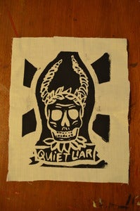 Image of White tribal skull patch