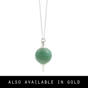 Image of Iva. Green Gemstone Orb Necklace