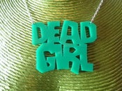 Image of DEAD GIRL NECKLACE Choice of 2 styles and Colours Red or Green Acrylic Necklace Horror Psychobilly