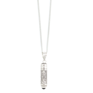 Image of Soma. Silver Bohemian Wish Box necklace