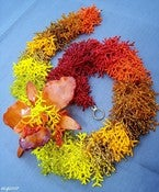 Image of Flower of Fire's Heart, OOAK beadwork necklace