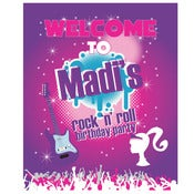 Image of Barbie Rock-n-Roll printable Birthday Party