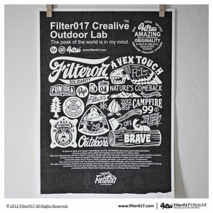 Image of Filter017「FCL OUTDOOR LAB」Screen Printing Poster-Noctilucent Special Edition (black and white)