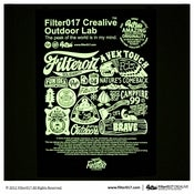 Image of Filter017「FCL OUTDOOR LAB」Screen Printing Poster-Combined purchase Collection.