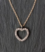 Image of Pave Diamond Heart Necklace