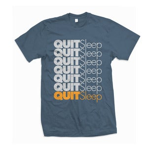 "Image of Vokab Kompany ""Quitsleep"" Lake Tshirt"
