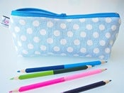 Image of Pencil case - yuwa dots blue