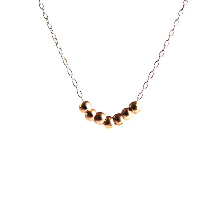 Image of Rose gold vermeil bead necklace