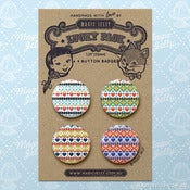 Image of Fair Isle Button Badge Set