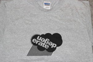 Image of Degenerate 'Cloud' logo t shirt GREY