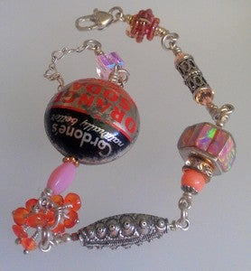Image of Island Sunset collage bracelet