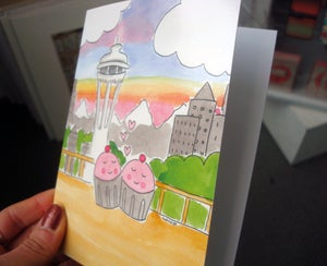 Image of 10-PACK STATIONERY CARDS: CUPCAKE LOVE IN SEATTLE
