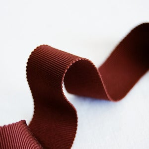 Image of Petersham Ribbon - Coffee