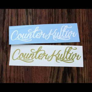 Image of Counter Kultur Script Decal