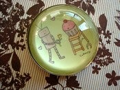 Image of JUMBO MAGNETS: 2-inch Cupcake and Robot Bubble Dome Magnet
