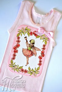Image of Applique Fairy Singlet- Pink