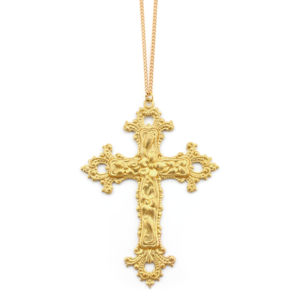 Image of Victoria. Huge Baroque Cross Necklace