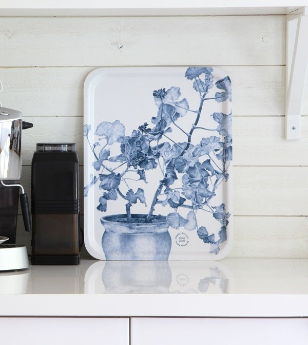 Image of Swedish Serving Tray - Blue Geranium