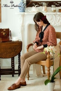 Image of Tea Time Peplum Top (dusty pink)