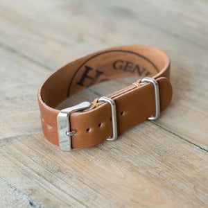 Image of W&F Passthrough Watchstrap - Cordovan Whiskey