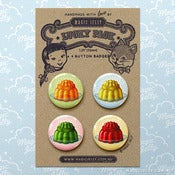 Image of Magic Jellies Button Badge Set