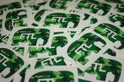 Image of Camouflage FTL Elephant Stickers (Limited Edition)